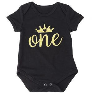 Infant Girls Crown Onesies and Romper Dress