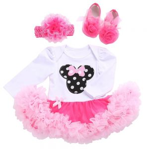 Baby Girl Minnie Mouse First Birthday Romper Dress 2017
