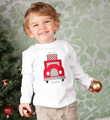 Creative Monogram Design baby boy t-shirts.
