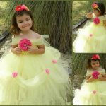 Baby Flower Girl Tutu Birthday Party Dress