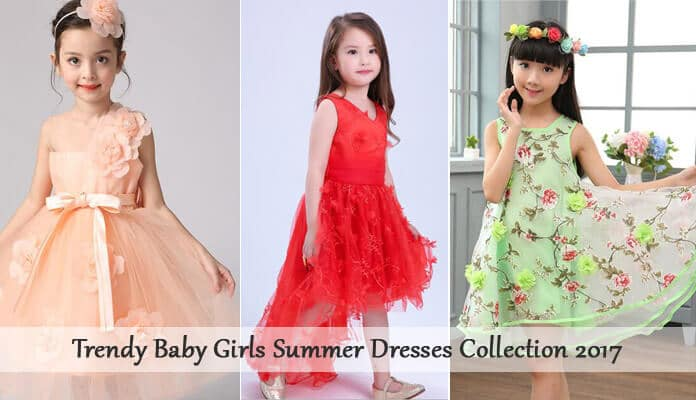 Baby Girls Summer Dresses Collection 2017 - Kids PartyGowns Online