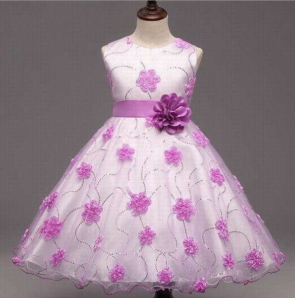 Princess Ball Gown Flower Girls Evening Dresses
