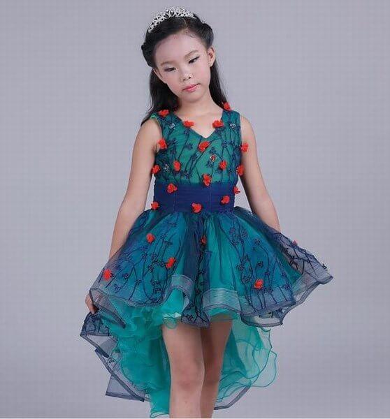 Little Princess Summer Long Flower Wedding Party Dress