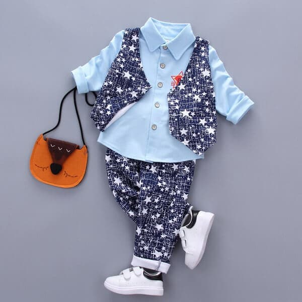 Boy 4 Piece Waistcoat Formal Wear Outfit Suit