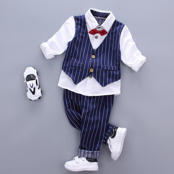 Boy Formal Party Bow Tie Waistcoat Suit