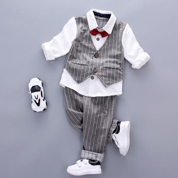 Kids Formal Wear Grey Waistcoat Outfit