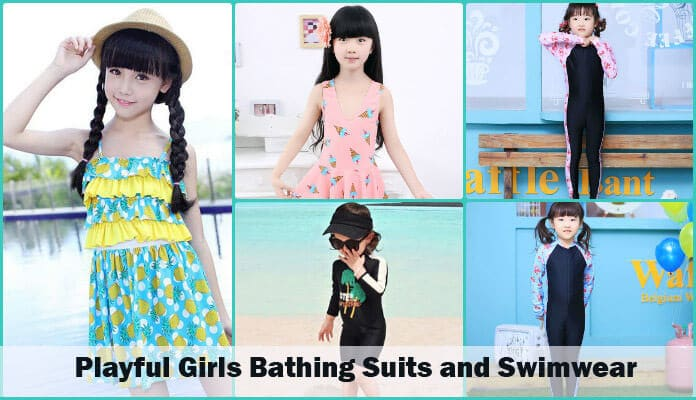Kids Girls Swimwear and Bathing Suit India