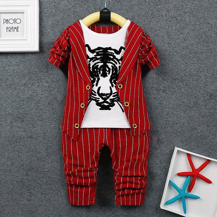 Cute Boys Formal Red Waistcoat outfit Suit