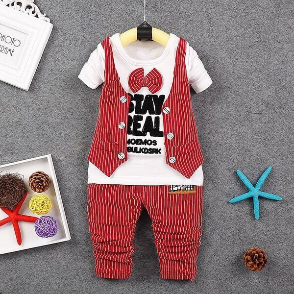 Page Boy Red Formal Waistcoat Suit