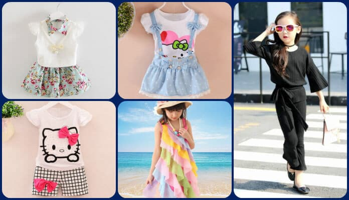 Top Baby Girl Summer Dresses and Holiday Outfits, Little Kids Clothing Sets India