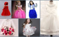 Stylish and Fancy Party Wear Frocks For Babies