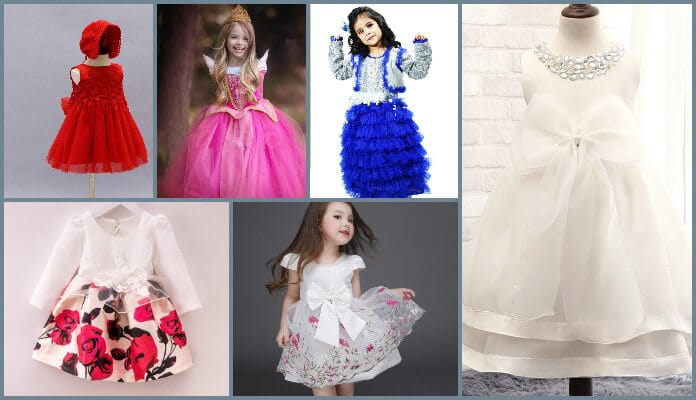 Stylish And Fancy Party Wear Frocks For Babies Toddler