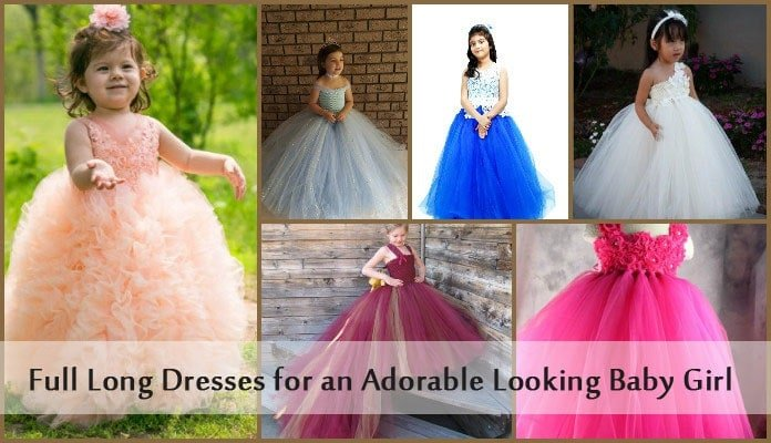 Beautiful Cutest Baby Girl Full Long Dress and gowns