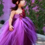 Flowers and Crochet Purple Baby Tulle Tutu Dress