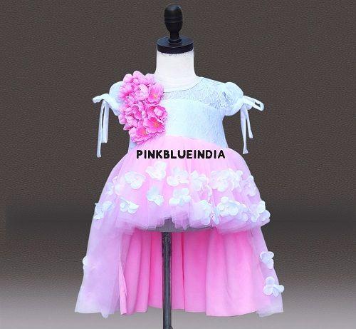Little Girl Party Wear High Low Dresses