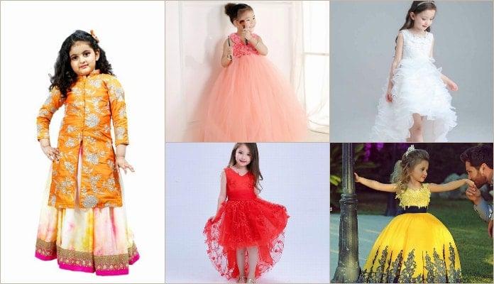 kids wedding dress, Indian Wedding Gown for girls