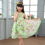 Latest Summer Party Baby Girls Occasionwear Floral Dress