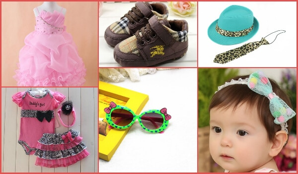 stylish theme baby party wear dresses and accessories