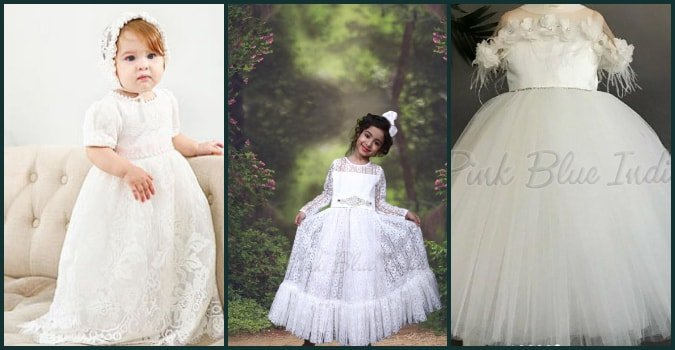 Baptism Dress for Baby Girl in Telangana, Newbron Baby Christening dress Hyderabad