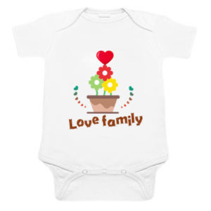 "Custom Newborn Baby Romper Clothes ""Love Family Message"""
