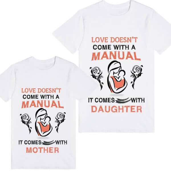 Custom Printed Matching Mom and Baby Holiday T-shirt