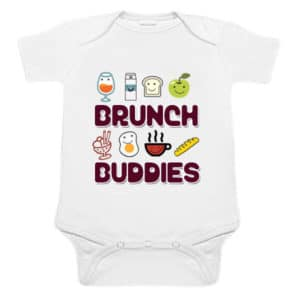 Customized Brunch Buddies Name print Newborn Baby Romper