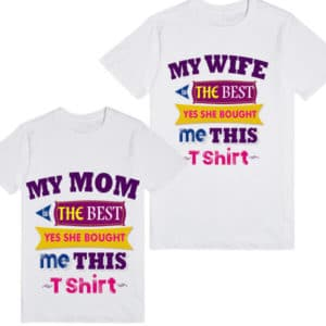 Cute Personalized Father and Son T-Shirt Tees India