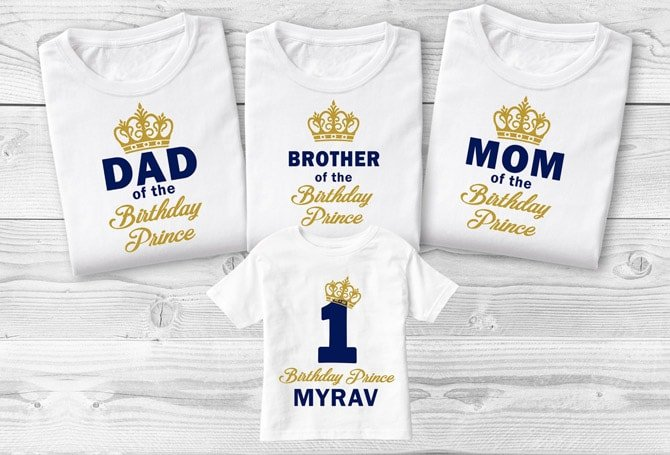 King Queen Prince Princess Shirts, Daddy Mommy of Royal Prince Family Matching T-shirt