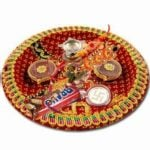 Decorating Raksha Bandhan Thali
