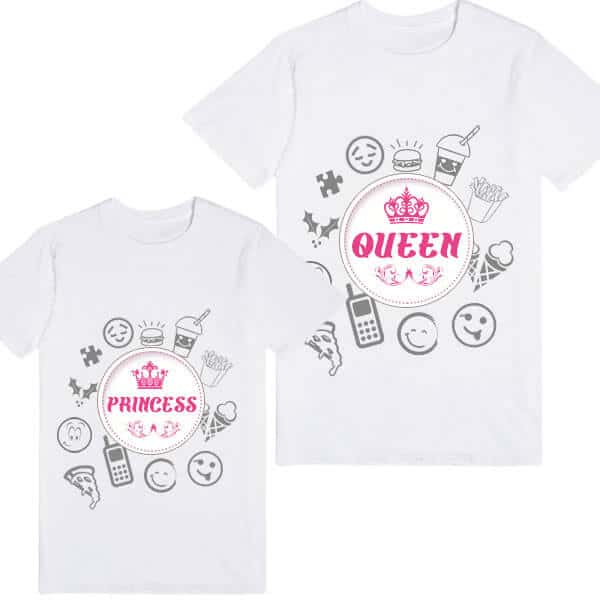 Princess Queen Mom and Daughter Clothes Family T-shirt India