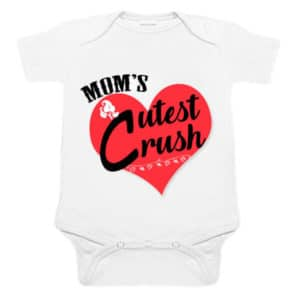 """Mom's Cutest Crush"" Unisex Newborn Baby Romper"