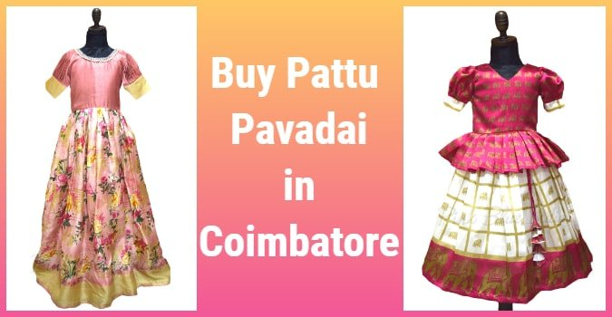 Designer Silk Pattu Pavadai in Coimbatore For Kids and Babies