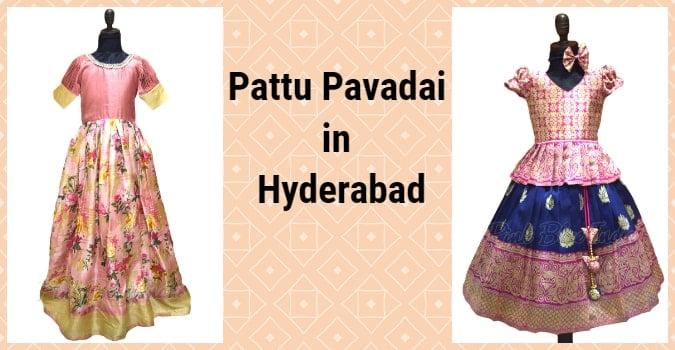 Kids Pattu Pavadai Lehenga, Pattu Pavadai in Hyderabad
