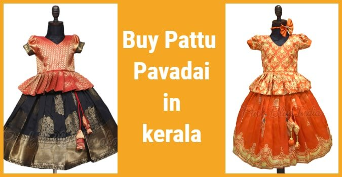 Traditional Kerala Style Pattu Pavadai Online for Babies and Kids