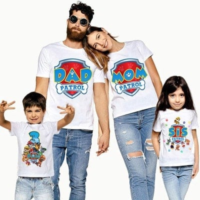 Paw Patrol Family Birthday Shirt Personalized Paw Patrol Family T-shirt, Custom Outfits