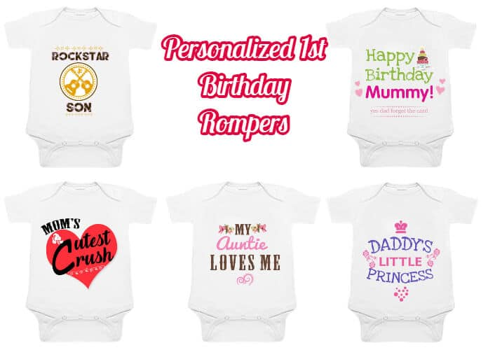 Unique 1st Birthday Personalized Romper Ideas On PinkBlueIndia