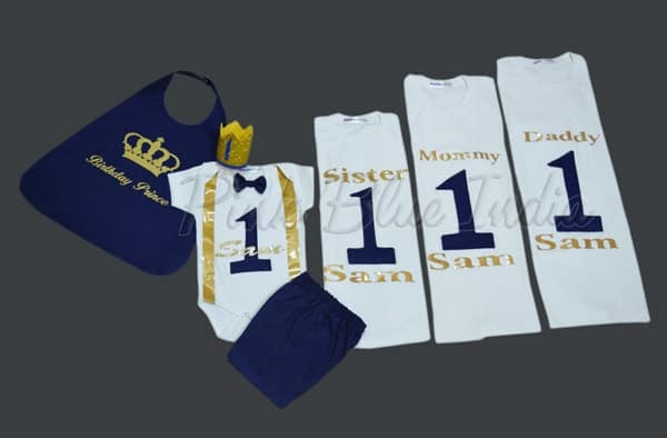 Royal Family Shirts, King Queen Prince Princess Family Matching Outfit Set