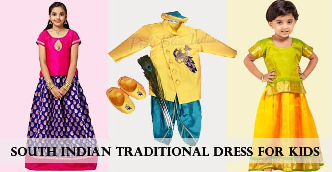 Kids South Indian Traditional Dress - South Indian Dress Baby Girl, Baby Boy