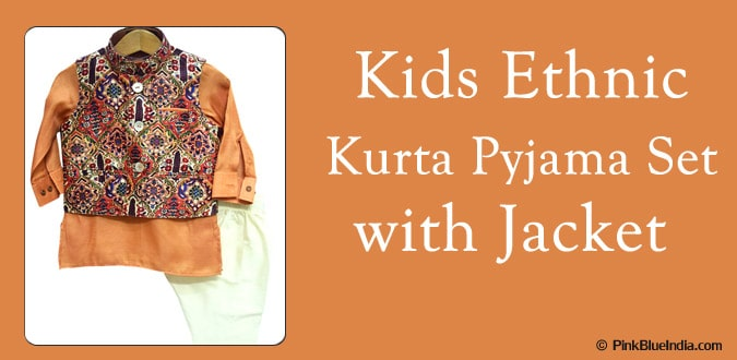 Kids Ethnic Kurta Pyjama with Jacket