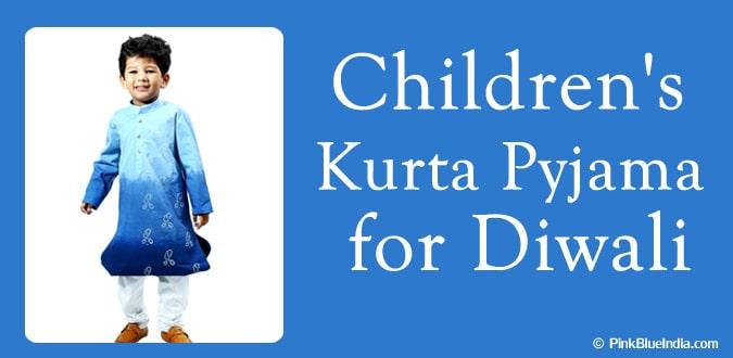 Childrens Kurta Pyjama - Diwali Boys Kurta Pyjama