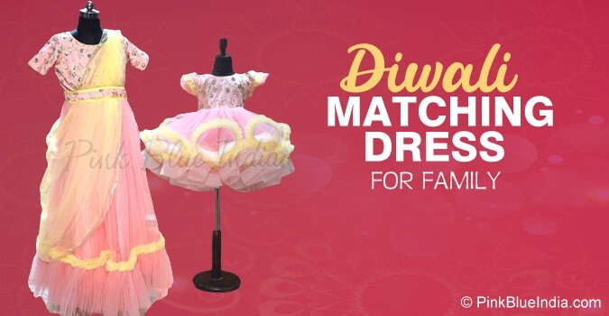 Diwali Matching Dress for Family, Mother and Daughter