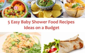 5 Easy Baby Shower Food Recipes Ideas on a Budget