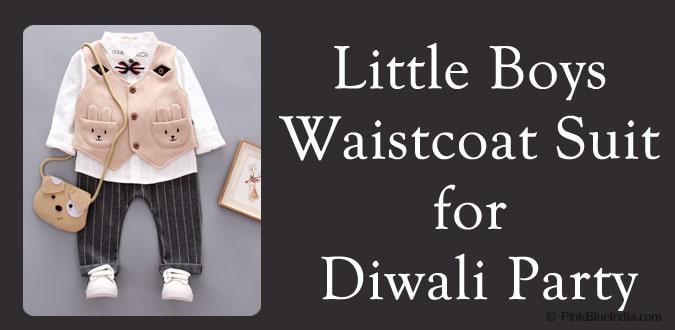 Little Boys Waistcoat Suit for Diwali Party