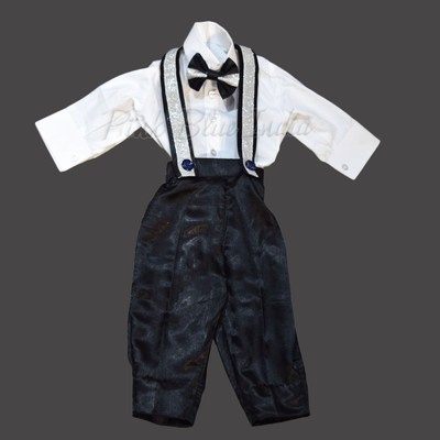 Boys Shirt and Suspender Pants Set Kids Outfit Birthday Party