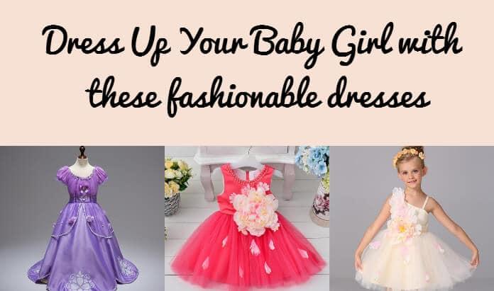 Baby Girl fashionable dresses, Dress Up, Princess Birthday Dress