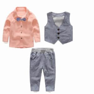 Cute Boys Grey Waistcoat Shirt Tie and Trousers Birthday party outfit online Buy India