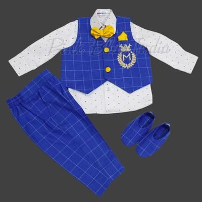 Baby Boy Waistcoat Set for 1st Birthday Party