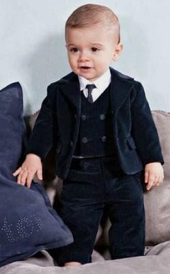 Toddler Boy Ring Bearer Velvet Suit, Baby Boy Clothing, Kids fashion Wear
