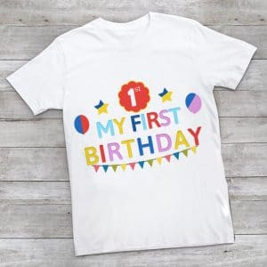 Baby First Birthday T-shirt, 1st year Birthday T-shirts