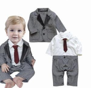 Handsome Grey Tuxedo Romper Waistcoat Suit online India